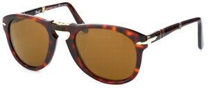 Persol Steve Mcqueen PO 714 24/57 Havana Folding Sunglasses Polarized Brown 52mm