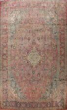 Geometric Semi-Antique Tebriz Area Rug Wool Handmade Palace Size Oriental 12x16
