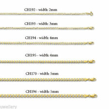 "Chain Yellow Gold 7.5 - 7.99"" Fine Bracelets without Stones"
