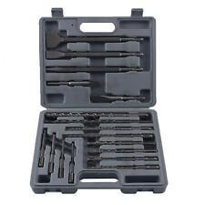 YaeTek 17 Pc Drill Bits & Chisel Sds Plus Rotary Hammer Bits Set-NEW AB-0079