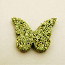 24 papillons en abaca menthe, 4 cm. Hobi. Décoration de mariage