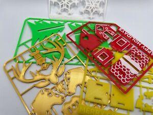 Christmas Stocking filler Kit Card Reindeer Snowflake Tree Gingerbread Nativity