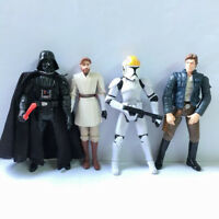 "4x STAR WARS TROOPER Darth Vader Obi Wan Kenobi Han Solo 3.75"" hasbro Figure toy"