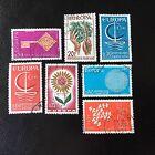 Lot de 7 timbres de France EUROPA - A57