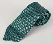"ARMANI BLACK LABEL Turquoise & Yellow Polka Dot 3.5"" Pure Woven Silk Tie"