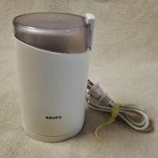 KRUPS COFFEE GRINDER 203B White Bean Mill Nuts Spices VGC