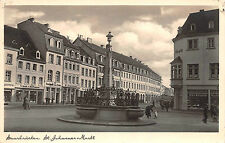 Saarbrücken St. Johannes Markt, Geschäfte Foto Karte 1939