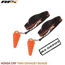 RFX Doble de Escape lavado desagües con cordón Honda CRF250 CRF450 Stock pipa