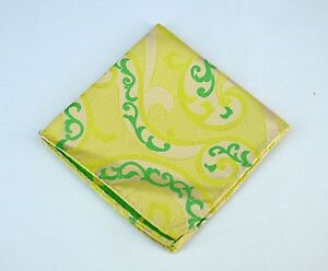 Lord R Colton Masterworks Pocket Square  Villarrica Yellow Silk - $75 Retail New