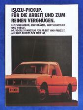 ISUZU Pickup - Prospekt Brochure 09.1985