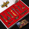 League Of Legends LOL 11 pcs Character Weapons Metal Keychain Collection In Box