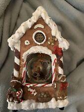 "Gingerbread House Snowglobe ""Jingle Bells"" Christmas Decoration 10"" Music Box"