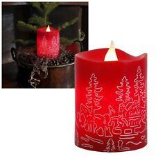 Led- Kerze rot Santa 10x8cm