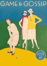 Game & Gossip Magazine, 1926 Vintage Golf Art Deco Poster of Front Cover