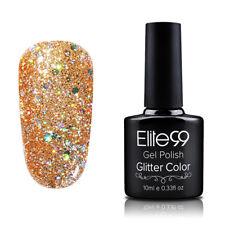 Elite99 Soak Off UV Gel Nail Polish Glitter Color Varnish No Wipe Top Base 10ML