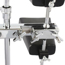Metal Percussion Instrument Holder for Hi-Hat Drum Cow Bell Accs Stand Clamp