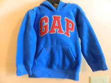 "Nwt baby Gap long sleeve blue streak pullover hoodie w/red ""Gap"" logo; size 3T"