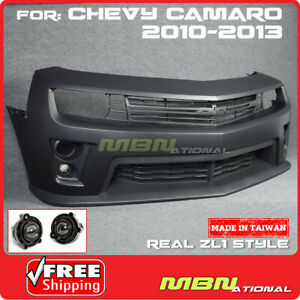 10-15 Camaro Real ZL1 Style Front Bumper Cover Projector Fog Light Grille Lip