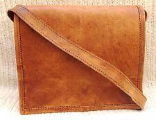 Men's Vintage Brown Leather Full Flap Messenger Rare Satchel Shoulder Bag