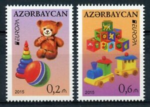Azerbaijan Europa Stamps 2015 MNH Old Toys Teddy Bears Cultures 2v Set