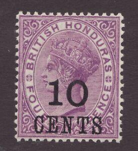 Sc# 30 - British Honduras - 10c surcharge - 1888 - VF MLH -  Superfleas  cv$28