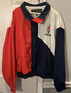 Vintage 1996 USA Jacket Authentic Olympic Games Collection Windbreaker Sz XL