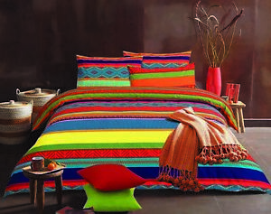 Rainbow Collection Duvet or Quilt Covers Bedding Sets With Pillowcases All Sizes