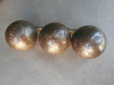Triplette de boules de pétanque vintages de compétition OBUT MATCH A773 720