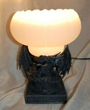 Drachenlampe mit Glasschirm Drache Beleuchtung Wohn Dekoration Neu