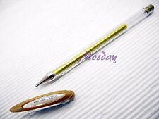 2 Pens Uni-Ball Signo UM-120NM RollerBall Pen Gel Ink 0.8mm, GOLD