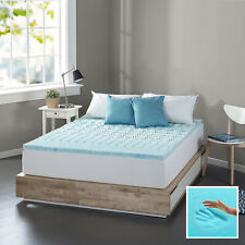 Queen Size Fusion Gel Memory Foam Mattress Firm Pad Bed Topper 1 Inch Cover Spa