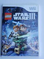 LEGO Star Wars III: The Clone Wars  - Nintendo Wii game - Lucasarts CIB