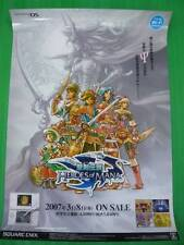 HEROES OF MANA PROMO POSTER VERY RARE AND LEGIT PROMO! COLLECTOR WORTHY!!!