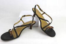 Damen Leder Riemchen Schuhe Sandalen, Schwarz Gr. 39 –gepflegt -