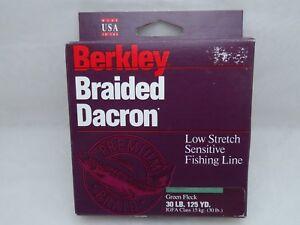 Berkley Dacron Braided Low Stretch Senstive Fishing Line 30lb 125yd Green Fleck