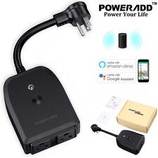 2-Outlet Smart WiFi Plug Power Socket Voice Remote Control Alexa & Google Home