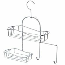 Shower Caddy Silver Chrome Handing Storage Unit Hook Shelf Organiser Bathroom
