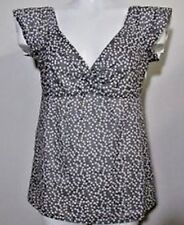 NWT J. Crew Women's Airy Knotted Front Gray Polka Dot Lined Blouse Top Shirt  4