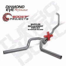 "Diamond Eye 4"" Aluminized Turbo-Back Exhaust No Muffler K4348A-RP"