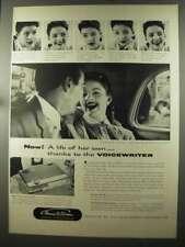 1956 Thomas A. Edison Voicewriter Ad - Life of Her Own