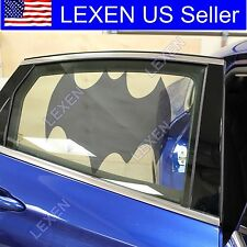 2X BATMAN CAR WINDOW SUN BLOCK SHADE Static Cling Tint for Baby Protection c