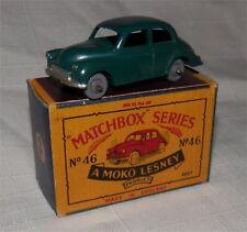 1960s.46 Matchbox. Lesney Morris Minor 1000. Verde. Gris ruedas de plástico. Menta en caja