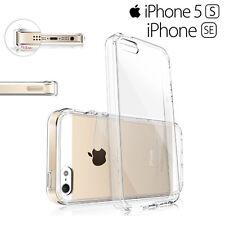 Funda Carcasa Gel Silicona Transparente con Antipolvo para iPhone 5S SE