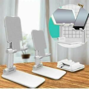 Adjustable Folding Desk Desktop Cell Phone Stand Mount Holder Alloy Collapsible