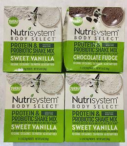 (20) Nutrisystem TURBO Shake Mix Protein Probiotics Chocolate Fudge and Vanilla