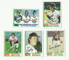 VINTAGE 1982 TOPPS BASEBALL CARDS – SAN FRANCISCO GIANTS - MLB