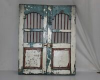 Vintage Wooden Handmade Antique Iron Fitted Rare Window Door 12066
