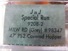 JTC - 47 ft.  3-Bay Covered Hopper  (Milwaukee Road)