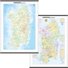 Sardegna Cartina Regionale Scolastica Murale [Bi-Facciale] 97x134 cm [Mappa]