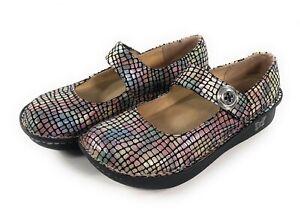 Alegria Paloma Mary Jane PAL-545 Shoes Womens Size EU 38 Pastel Stone Comfort